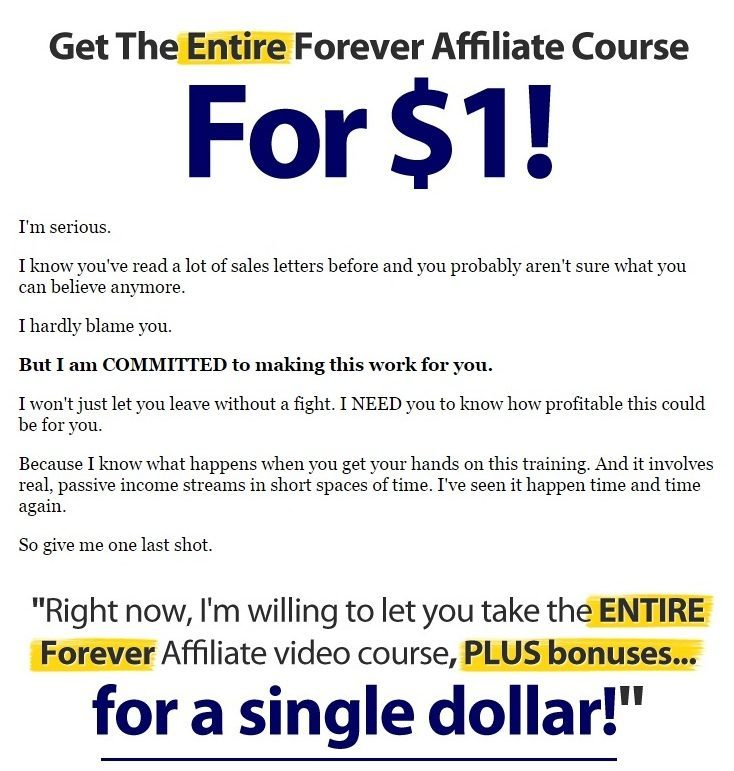 get the entire forever affiliate course