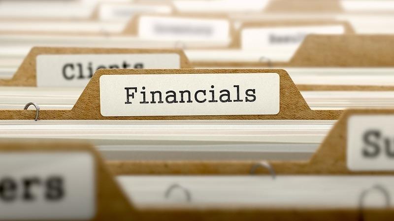 Financials Concept. Word on Folder Register of Card Index. Selective Focus.