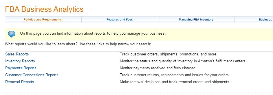 FBA biz analytics