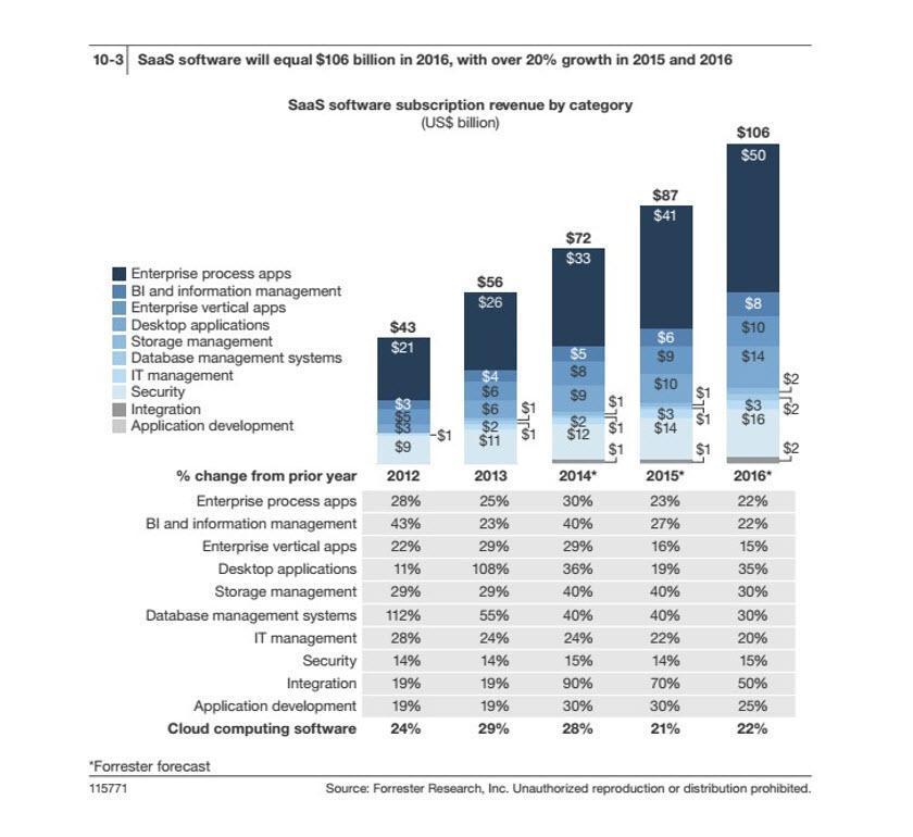 SaaS Software Subscription Revenue